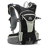 AONIJIE 12L Hydration Backpack Rucksack, leicht und wasserdicht, Fahrrad-Weste für Laufen, Wandern Camping, Black only bag
