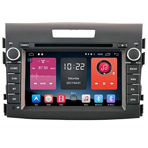 Autosion 7Zoll, mit Android 6.0Autoradio Auto-DVD-Player mit GPS-Navigation Bluetooth Stereo für Honda CRV 2012201320142015mit USB-SD Autoradio OBD WiFi DVR 1080P (Auto Stereo-crv)