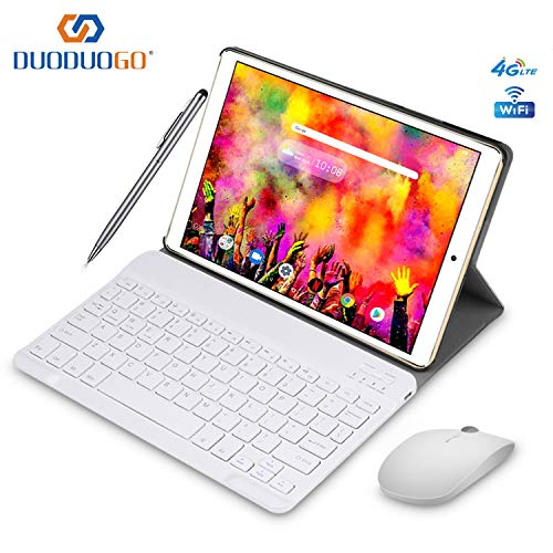 2019 Tablette Tactile 10 Pouces IPS/HD - 3Go RAM 64Go ROM 4G Android 8.1 Tablet PC Quad Core Batterie 8000mAh Tablette 4G Double SIM Double Caméra WiFi,Bluetooth,GPS,OTG (Or)