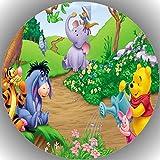 Fondant Tortenaufleger Tortenbild Geburtstag Winnie Pooh P4