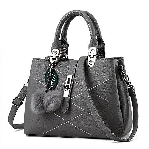 CELO Européens et américains Hairball sac à main de façon simple de haute qualité sac à bandoulière diagonale vente dames occasionnels sacs , light gray