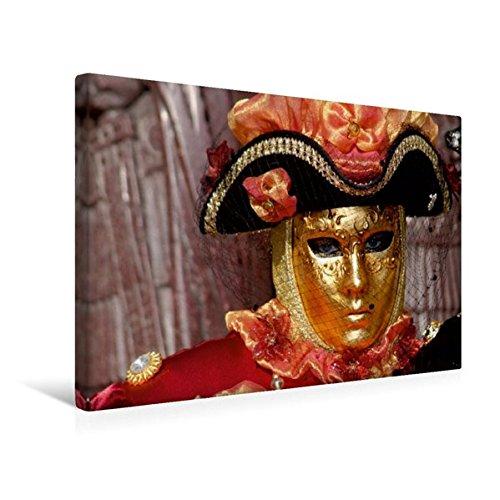 Premium Textil-Leinwand 45 cm x 30 cm quer, Schwarz, Rot, Gold | Wandbild, Bild auf Keilrahmen, Fertigbild auf echter Leinwand, Leinwanddruck (CALVENDO Kunst)