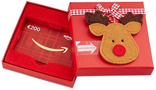 Amazon.de Geschenkkarte in Geschenkbox  - 200 EUR (Rentier)