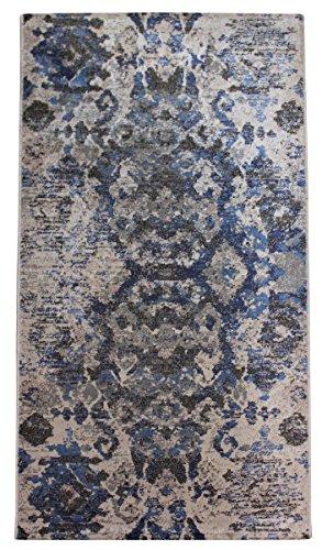 Teppich oder Läufer oder fahren oder Bettvorleger Effekt 3d modernen Mehrzweck–verschiedene Größen CM 60 X 110 blau