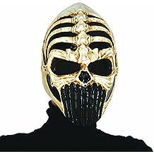 Careta alien terrorífico Máscara guerrero esqueleto Mascarilla luchador Halloween Antifaz de miedo extraterrestre Antifaz cráneo alienígena Careta de muerto horroroso