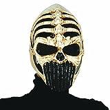 NET TOYS Máscara Guerrero Esqueleto Careta Alien terrorífico Antifaz cráneo alienígena Mascarilla Luchador Halloween Careta de Muerto horroroso Antifaz de Miedo Extraterrestre