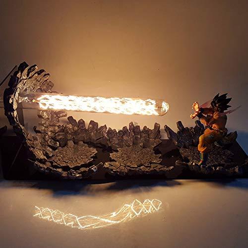 DIY Luces de Noche LED Anime Dragon Ball Z DBZ Led Lámpara de Mesa Son Goku Figura de Acción Muñeca