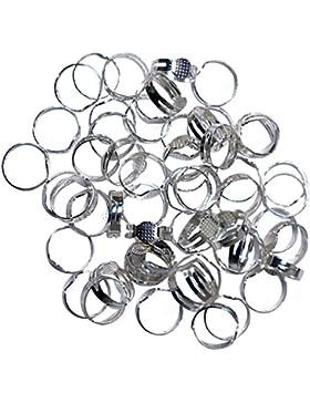 80 teiliges Anpassbares Metall-Ringe Rohlinge Set von Kurtzy ? ideal zum Basteln, Herstellen von Schmuck, Handgemachte...
