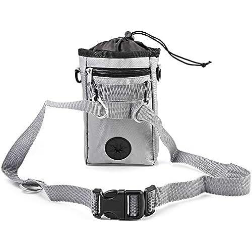 regalos tus mascotas mas kawaii Leetop Dog Training Treat Pouch Bag,Dispensador de Bolsas para Recoger Excrementos Integrada,Fácil Almacenamiento de Pienso,Juguetes paras Mascotas y Accesorios de Entrenamiento(Gray)