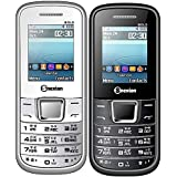 Snexian BOLD 2252 Feature Mobile Phone Combo Of Two Mobiles(White +Black) With 1.8 Inch, Dual Sim, Open FM, 1000 Mah Battery, BLUETOOTH, CAMERA, Upto 16 GB Expandable Memory, BIS CERTIFIED & 1 YEAR WARRANTY
