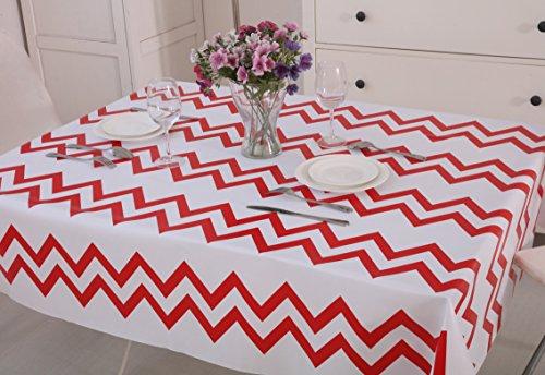 vinylla-chevron-rosso-tovaglia-in-tela-cerata-pvc-facile-da-pulire-pvc-red-square140x140cm