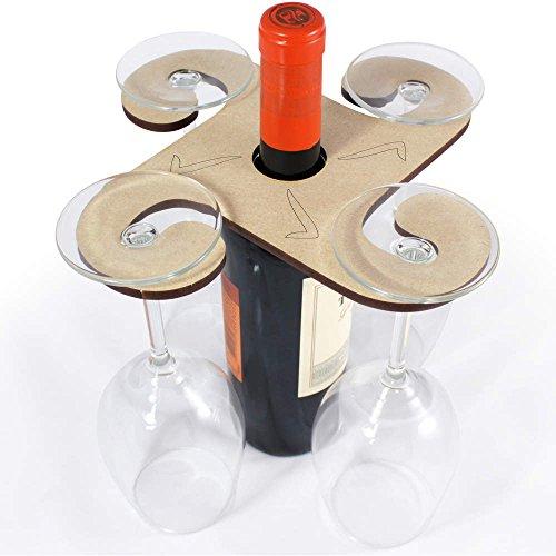 Azeeda 'zecca' porta bicchiere di vino in legno (gh00011812)