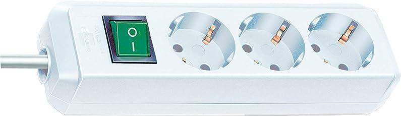 Axieanchun Eco-Line 3-fach Steckdosenleiste (Steckerleiste mit Kindersicherung, Schalter und 3 m Kabel) weiß