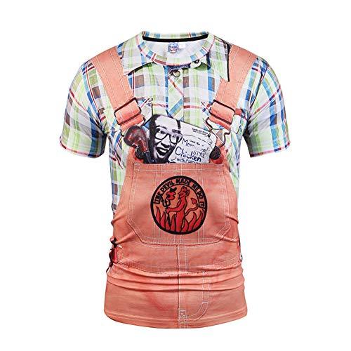 XJWDTX Neues Stereo-Kurz-T3D-T-Shirt Mit Zweiteiligem Muster Und Lustigem, Realistischem Show-T-Shirt (Show Lustige T-shirt)