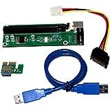 USB 3.0 PCI-E Expresar 1x a 16x Extensor Cable Adaptador de Tarjeta Vertical SATA Cable