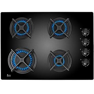Teka HF LUX 50 4G AI AL CI Integrado Encimera de gas Negro – Placa (Integrado, Encimera de gas, Negro, 1000 W, 1750 W, 3000 W)