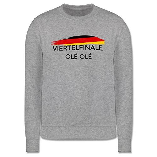 EM 2016 - Frankreich - Deutschland Viertelfinale Olé Olé - Herren Premium Pullover Grau Meliert