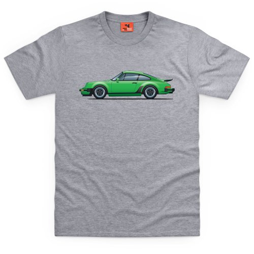 General Tee Nine Eleven Sports Car T-Shirt, Herren, Grau meliert, - Design Porsche Zeigt