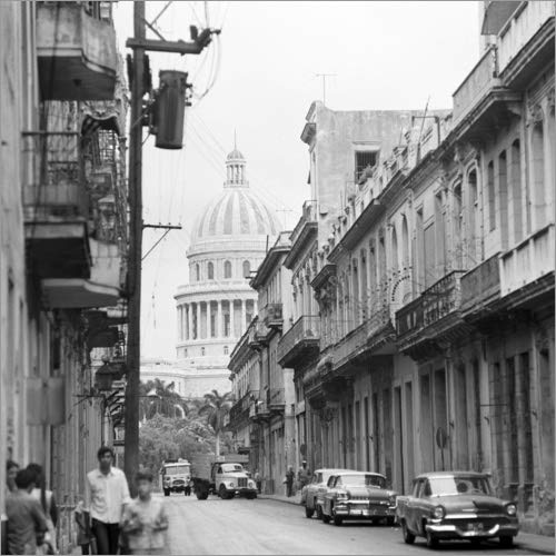 Posterlounge Alubild 80 x 80 cm: Kuba historisch - Havanna 1974 von Klaus Morgenstern/ddrbildarchiv.de