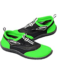Cressi Reef Zapatillas Chanclas, Unisex Adulto, Negro/Lime, 43