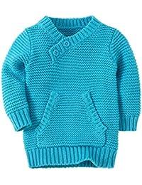ACVIP Bébé Garçon Fille Pull-Over Sweat Shirt Sweater Fil à Tricoter Devant Poche Enfant Unisexe
