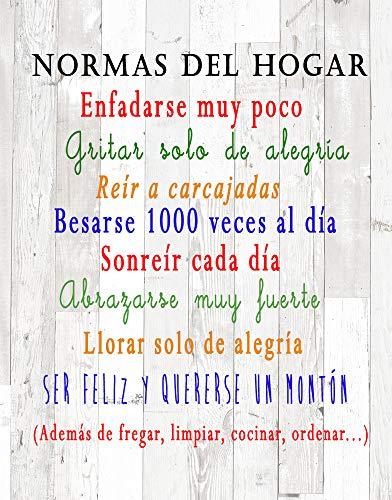 DCine Cuadro Decorativo/Frases positivas/sobre Madera/Regalo/Normas