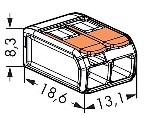 Set 10Schraubklemmen WAGO Serie 2212Kontakte mit Hebel 0,2–4mm2 - 3