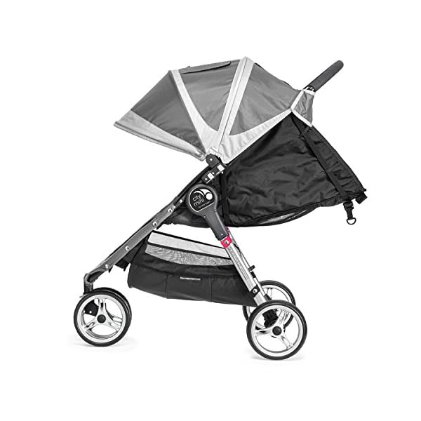 Baby Jogger City Mini Single Stroller Steel Grey Baby Jogger Suitable from birth, the City Mini Stroller is the essence of urban mobility: Lightweight, compact and nimble, its sleek and practical design makes it an ideal choice for traversing the urban jungle Lift a strap with one hand and the City Mini folds itself: Simply and compactly, it really is as easy as it sounds and the auto-lock will lock the fold for transportation or storage The fully reclining with vents and a retractable weather cover to make sure that your child is comfortable and safe as they watch the world go by the SPF 50+ hood canopy has two peek-a-boo windows so you can keep an eye on your precious cargo 3