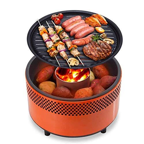 HYL Holzkohlegrills Leichte BBQ Grill mit Ventilator und Tragetasche, die Verwendung als tragbarer Grill for Camping, Grill Kochen im Freien, Parkplatz-Grills und Boot Grill 3-5 Personen