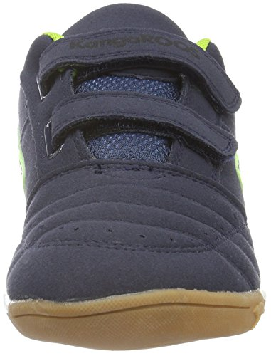 KangaROOS Power Court Ps, Baskets Basses Mixte Enfant Bleu - Bleu marine/citron vert (481)