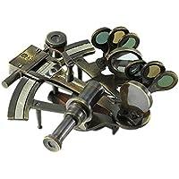 Réplica de sextante de Kelvin y Hughes en latón envejecido