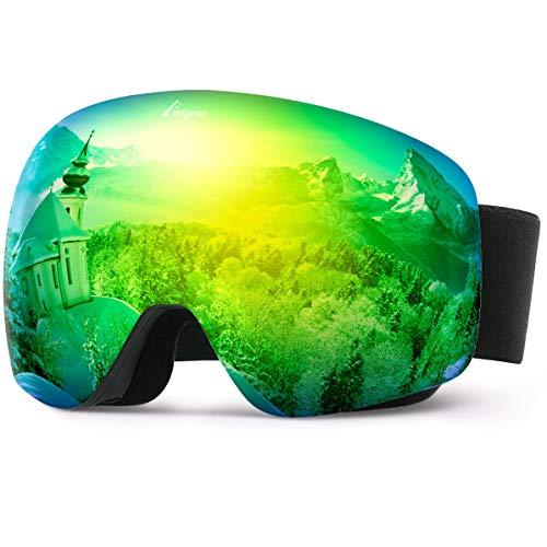 Elegear Anti-Fog Skibrille Verspiegelt Snowboard Brille Ski Goggles für Herren Damen