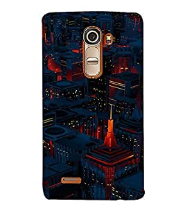 PrintVisa Modern City Lights Design 3D Hard Polycarbonate Designer Back Case Cover for LG G4 Mini