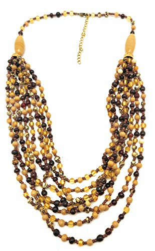 DCA Gold/Copper/Bronze Glass Women Necklace (4035)