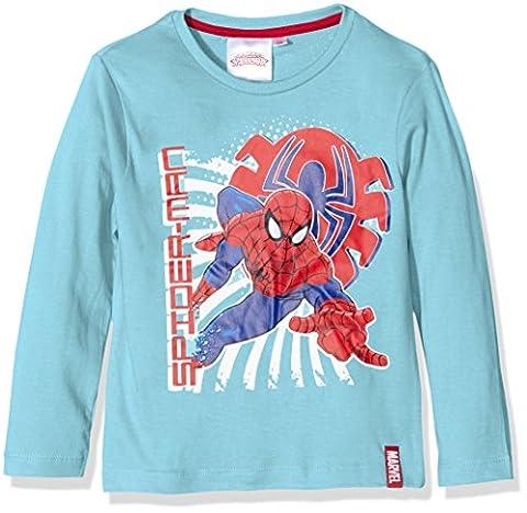 Sun City FR Spiderman Crime Fighter, T-Shirt Garçon, Vert (Combo 1), 4 Ans