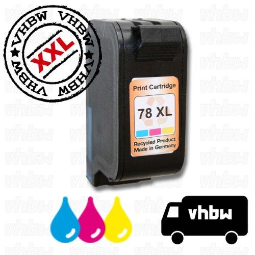 vhbw kompatible Ersatz Tintenpatrone Druckerpatrone bunt für Drucker wie HP 78