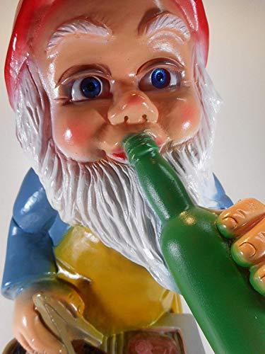 Gartenzwerg Grillmeister aus bruchfestem PVC Zwerg Made in Germany Figur - 4