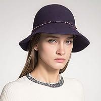 6ded64593de4d Limin Sombreros de bombín para Mujeres Señoras Clásico Sombrero de Campana  Elegante Sombrero de Fieltro Sombrero