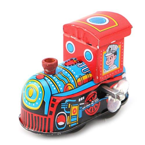 ZOUCY Tren de Vapor Juguetes de Cuerda, Retro Tren de Vapor Reminiscencia Niños Vintage Juguete de hojalata Juguetes de Cuerda Regalo