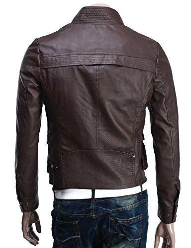 Iftekhar Men's Pure leather Jacket - Black - (Iftekhar37 - M)