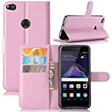 Huawei P8 Lite 2017 Backcover Leather Case Codream Protective Skin Double Layer Bumper Shell Shockproof Impact Defender Protective Case Backcover For Huawei P8 Lite 2017, Pink