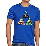 CottonCloud Triforce Link Herren T-Shirt Gamer Hyrule, Größe:S;Farbe:Blau