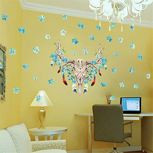 519nL0xtDHL - NO.1 BEAUTY# Creativee (Bone Flowers) Wall Sticker Wallpapers for Bedroom Living Room, Removable Home Decal Vinyl Art Decor DIY Decoration Reviews  Best Buy price
