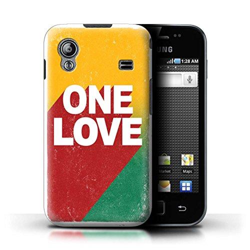 Stuff4 Custodia/Cover/Caso/Cassa Rigide/Prottetiva Stampata con Il Disegno Arte Rasta Reggae per Samsung Galaxy Ace - One Love Manifesto