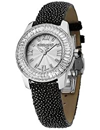 Roberto Cavalli Ladies Fugit Analogue Watch R7251147515 with Quartz Movement and Silver Dial
