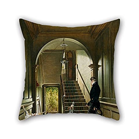 Uloveme Throw Pillow Case Of Oil Painting Pieter Christoffel Wonder - The Staircase Of The London Residence Of The Painter,for Boys,home,family,wedding,study Room,christmas 20 X 20 Inches / 50 By
