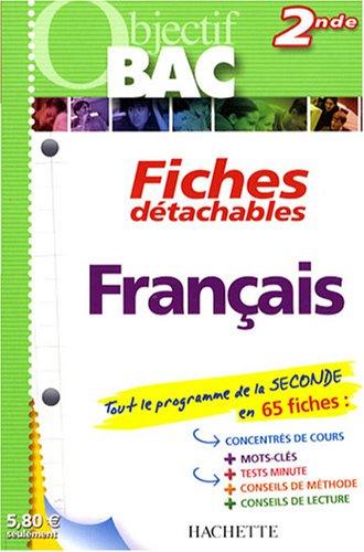 Français 2de : Fiches détachables