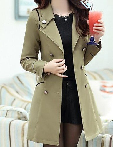 Xuanku Femmes 039;S Double Breasted Trench-Coat Slim Cravate (Plus De Couleurs)
