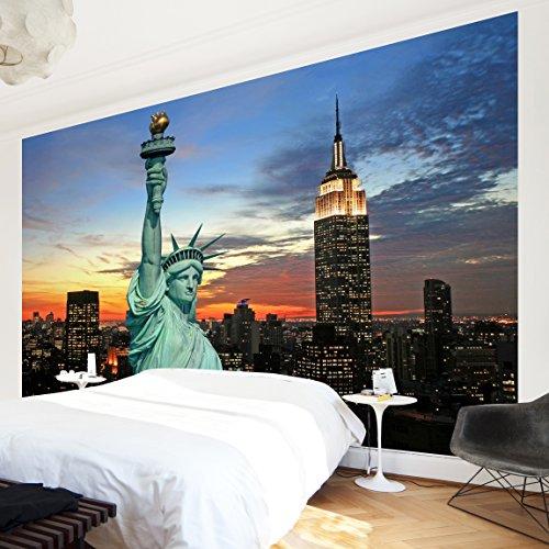 Papier peint intissé Premium – New York de nuit – panoramique Large