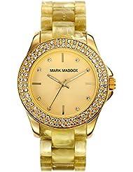 Mark Maddox MP3015-20 - Reloj de cuarzo para mujer, correa de policarbonato color beige
